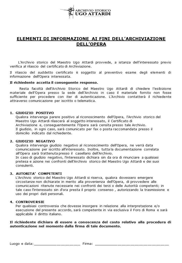 Documento per l'archiviazione opere di Attardi p.2